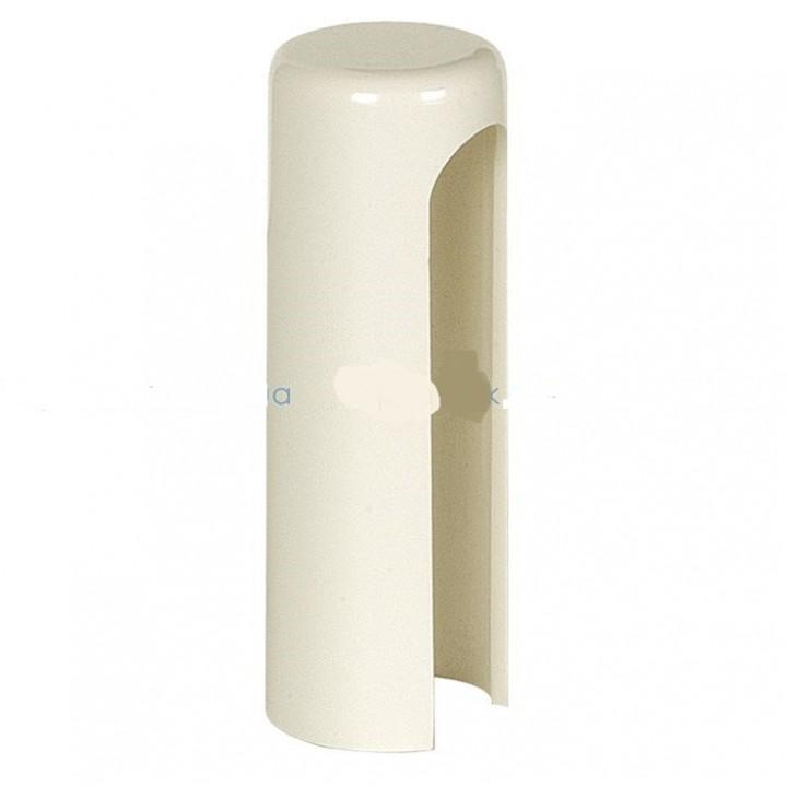 Накладка декоративная на петлю AGB 3D/14мм, декор, пластик, белый