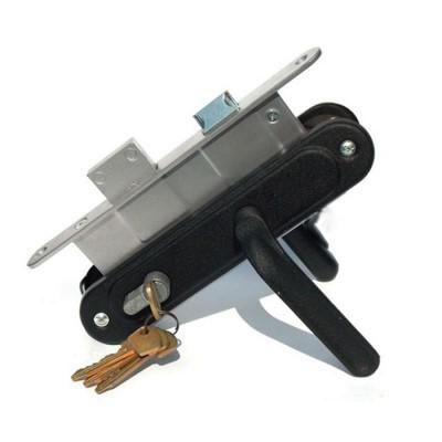 Замок врезной Мотор Сич-ЗВ-7-с ручками чёрный