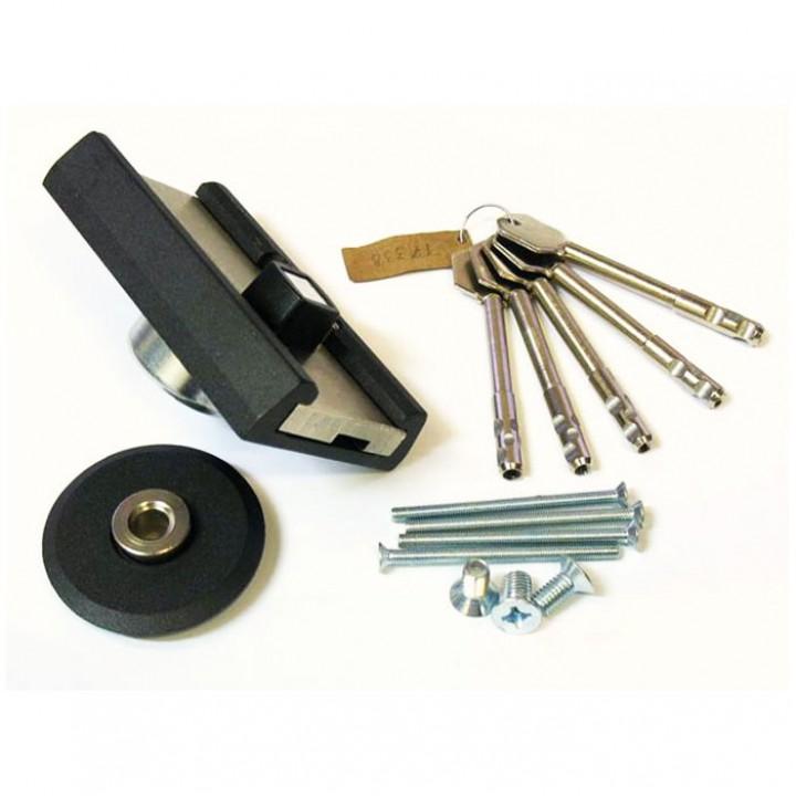 Замок накладной Барьер 4 Р длинный ключ 108 мм