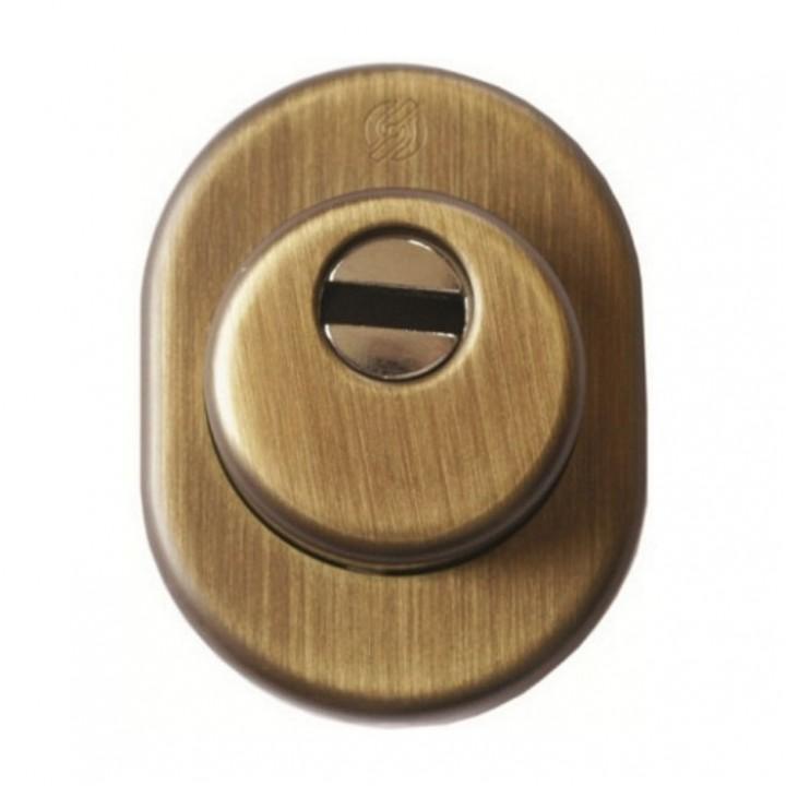 Броненакладка  под цилиндр Securemme 4246EOB25M5 бронза овал 50202