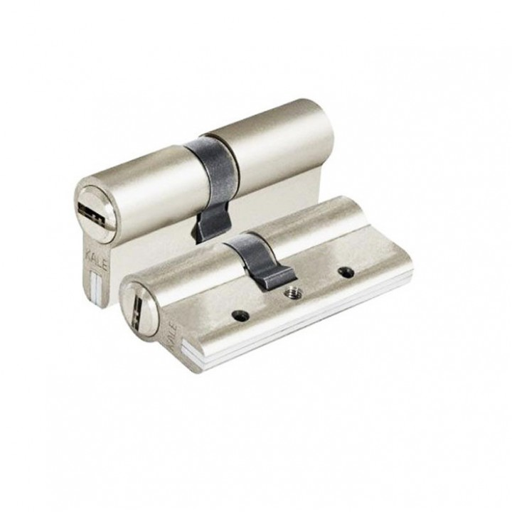 Цилиндр для замка KALE 164 DBNE 35+10+45: 90 mm никель 5 ключей