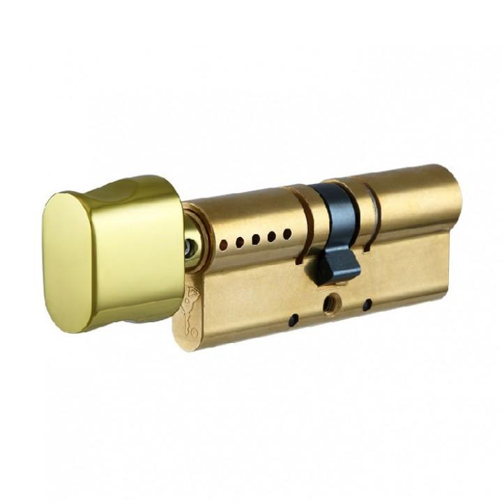 Цилиндр Mul-t-Lock Interactive 110 мм 50/60Т с поворотником Латунь