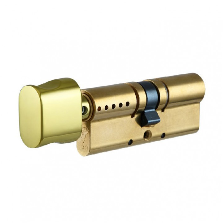 Цилиндр Mul-t-Lock Interactive 80 мм 45/35Т с поворотником Латунь