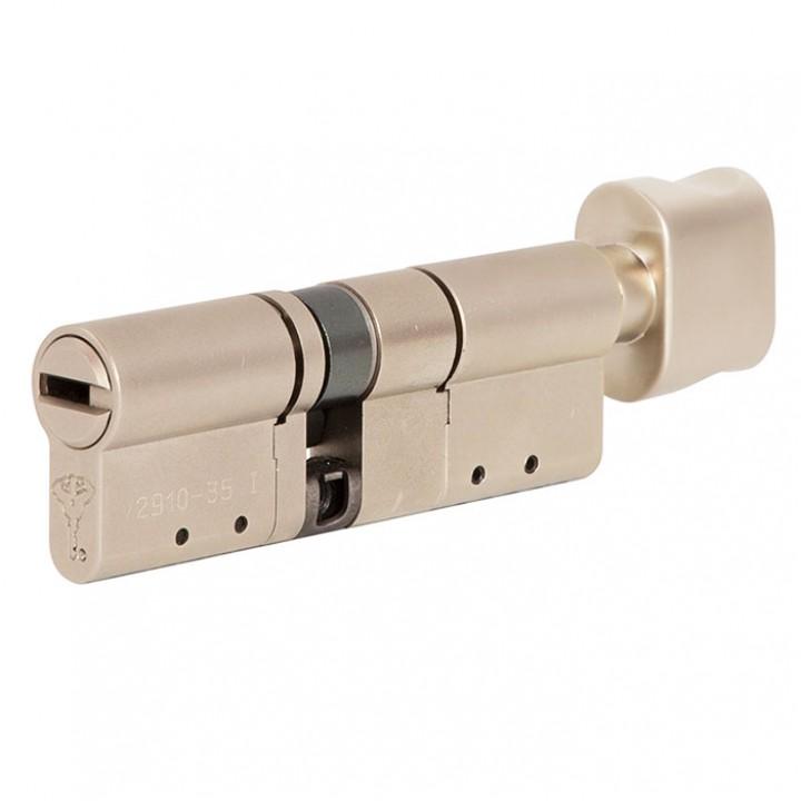 Цилиндр Mul-T-Lock MT5+ 115 мм 60/55Т с поворотником Сатин