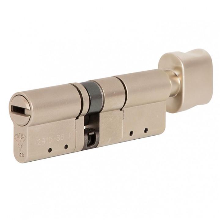 Цилиндр Mul-T-Lock MT5+ 155 мм 80/75Т с поворотником Сатин