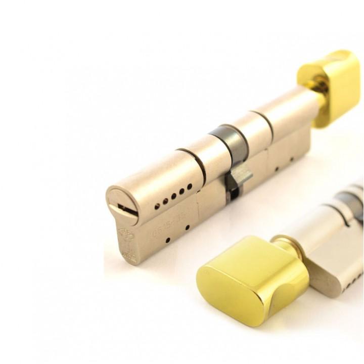 Цилиндр Mul-T-Lock MT5+ 110 мм 45/65Т с поворотником Латунь