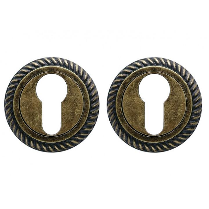 Накладка под евроцилиндр резная Trion YALE 28-12 A. Bronze new